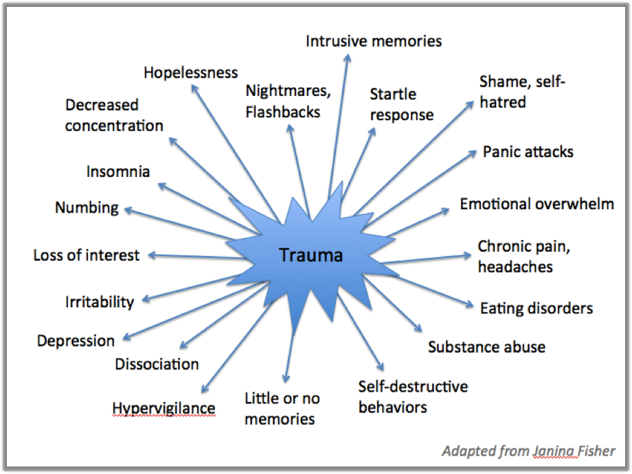 Trauma Survivors Have Symptoms Instead of Memories, Linnea Butler, RachelintheOC.com, Rachel Thompson, @RachelintheOC